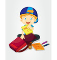 Packing bags vector image