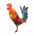 Polygonal image of colorful rooster vector image