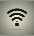 protected wi-fi icon vector image
