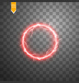 red round frame shining circle banner isolated vector image vector image