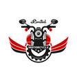 retro or vintage motorcycle emblem logo design vector image vector image