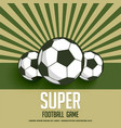 retro style football game background vector image vector image