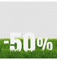 sale text with green grass transparent background vector image vector image