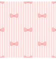 Seamless background bows on pink strips pattern vector image vector image