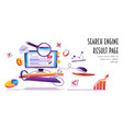 search engine result page serp cartoon banner vector image