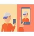 Selfie Conceptual in Flat Design vector image vector image