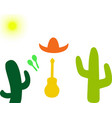 set on a mexican theme vector image