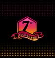 seven years anniversary celebration logotype 7th