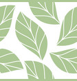 soft green leaves seamless repeating pattern vector image