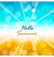 summer background with hello summer text vector image