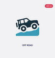 two color off road icon from transportation vector image
