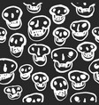 white on black skulls pattern vector image vector image