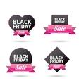 Black Friday sales tag vector image