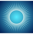 Abstract bright dotted sun background vector image vector image