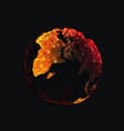 abstract polygonal earth as pandemic concept vector image