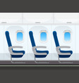 airplane seat in the cabin vector image vector image