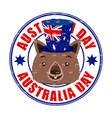 animals australia day celebration vector image vector image