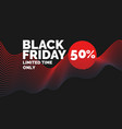 black friday abstract vector image vector image
