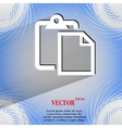 blank paper Flat modern web design on a flat vector image