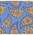 Blue paisley floral seamless pattern vector image vector image