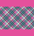 blue pink check plaid fabric texture seamless vector image