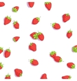 bright strawberries background vector image vector image