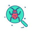 bug icon design vector image vector image