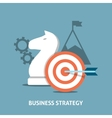 Business strategy concept vector image