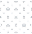 candle icons pattern seamless white background vector image vector image