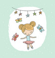 cartoon ballerina girl cartoon ballerina girl vector image vector image