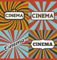 cinema headline in retro frame vector image vector image