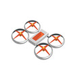 colorful icon of flying quadrocopter unmanned vector image