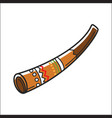 didgeridoo musical instrument isolated on white vector image