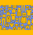 fashion seamless background shopping clothing vector image vector image