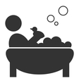 Flat bathing icon with duck isolated on white vector image