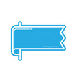 flat color banner icon vector image vector image