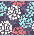 floral abstract hydrangea flowers vector image vector image