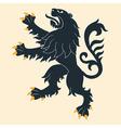 Heraldic lion 26 vector image vector image