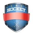 Hockey Shield badge vector image vector image