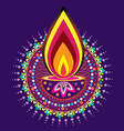 Indian new year element vector image