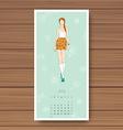 july hand drawn fashion models calendar 2016 vector image vector image