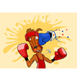 Kangaroo boxer vector image
