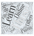 learn piano online Word Cloud Concept vector image vector image