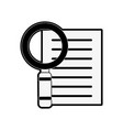 magnifying glass examining document icon image vector image vector image