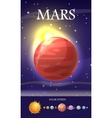 Mars Planet Sun System Universe vector image vector image