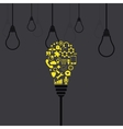 modern light bulb background vector image vector image