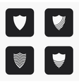 modern shield icons set vector image vector image