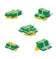 money cash heap vector image vector image