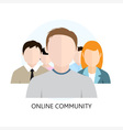 Online Community Icon Flat Design