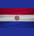 paraguay flag flag of paraguay blowig in the vector image vector image